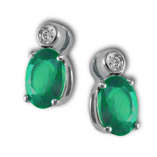orecchini in oro, orecchini in smeraldo,