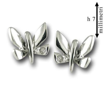 orecchini in oro, orecchini in oro bianco, idea regalo bambina