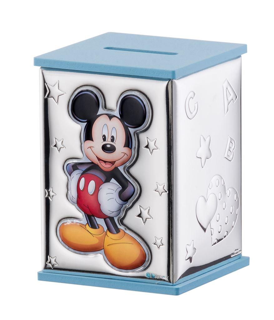 Salvadanaio Disney Topolino celeste bambino D298C