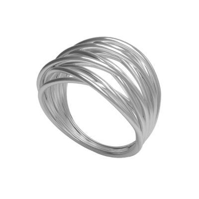 fascione in oro bianco donna gemoro in offerta da cuatto, anello radici gemoro offerta da cuatto