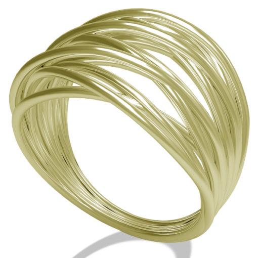 anello in oro bianco, anello in oro, filo della vita