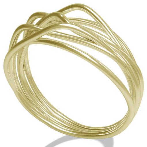 anello in oro giallo, anello in oro, filo della vita