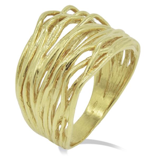 dove posso comprare enorme inventario imbattuto x Anello Gemoro in oro giallo Radici - fascia