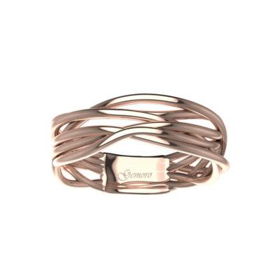 anello in oro rosa Gemoro donna offerta da Cuatto, offerta anello in oro rosa fascia donna provincia di torino