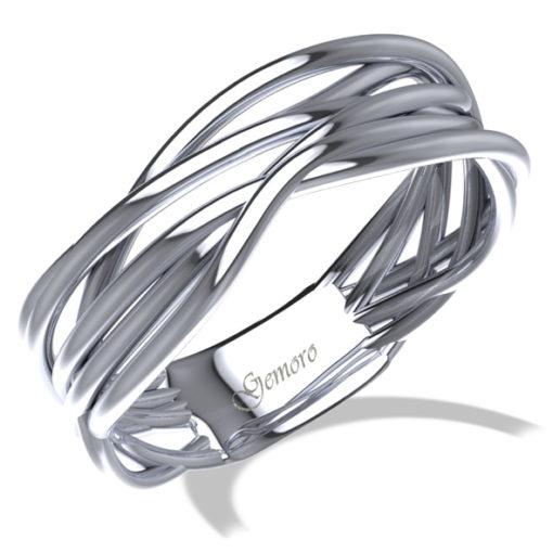 anello in oro nianco donna intrecciato offerta da Cuatto, offerta anelli in oro bianco intrecciati a filo Gemoro