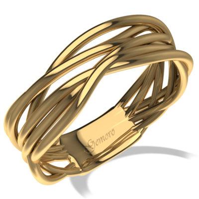 anello in oro giallo fascia oro ,offerta fascione donna in oro giallo Gemoro, offerta anelli in oro radici intrecciato Gemoro