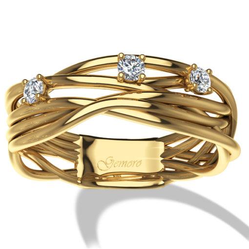 filo della vita, anello in oro e diamanri, diamante, oro giallo