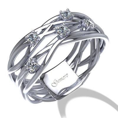 anello donna oro e diamanti intrecciato vari fili offerta Susa, offerta anelli in oro e diamanti provincia di torino, anelli donna e diamanti intrecciato offerta da Cuatto