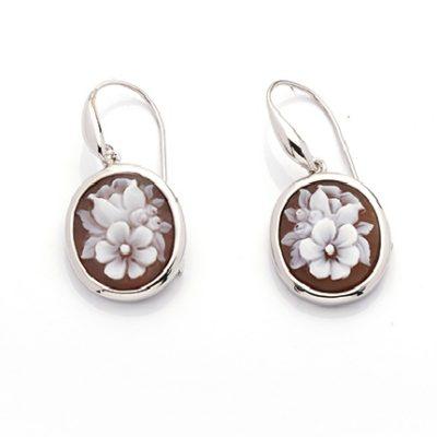 orecchini in argento, orecchini cameo, offerta