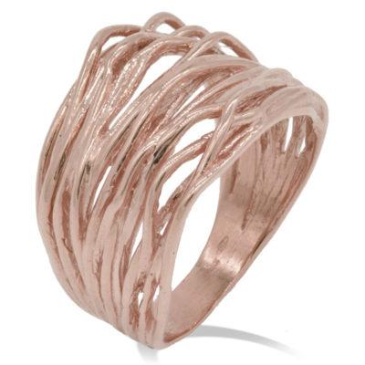 fascione in oro rosa donna offerta da cuatto, anello largo oro rosa in offerta da cuatto, gemoro collezione radici anello donna in oro offerta da cuatto