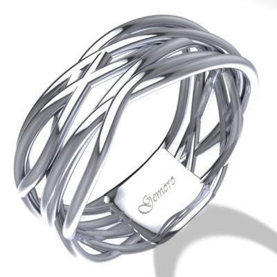 anello in oro bianco gemoro collezione radici offerta provincia di torino,offerta anelli donna in oro intrecciati torino