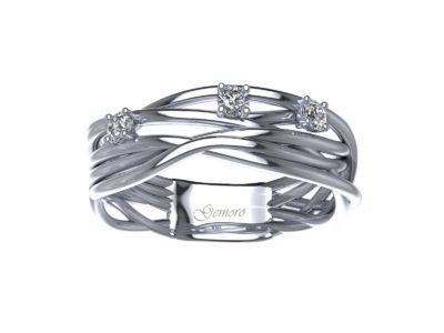 anello in oro bianco e diamanti intrecciato a filo offerta torino, offerta anelli donna in oro e diamanti intrecciato a filo ,offerta anelli in oro bianco e diamanti provincia di torino