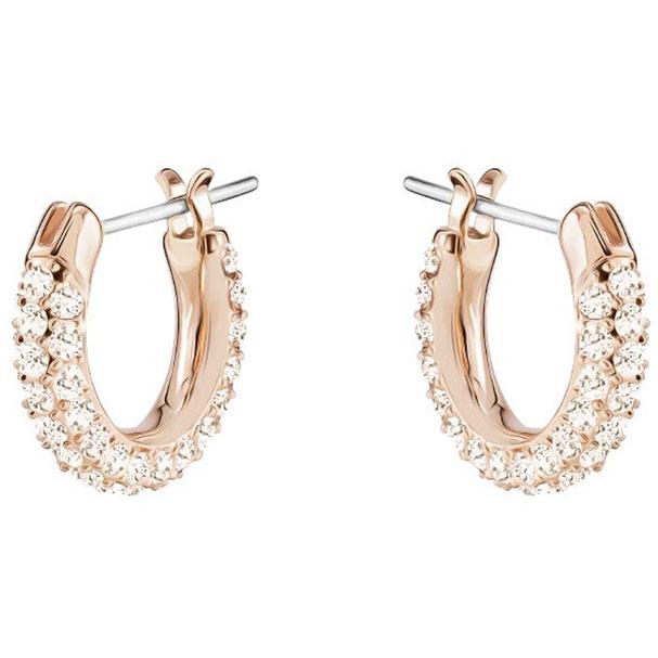 0f6ddb83fd5138 Orecchini Swarovski Stone donna cerchio colore oro rosa - in offerta ...