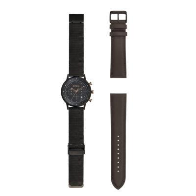 8d3a30f0345 Orologio Breil uomo Gent cronografo con doppio cinturino marrone TW1808