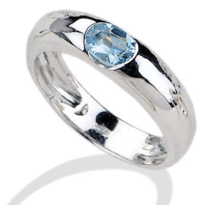 anello in oro, oro bianco, anello con ametista