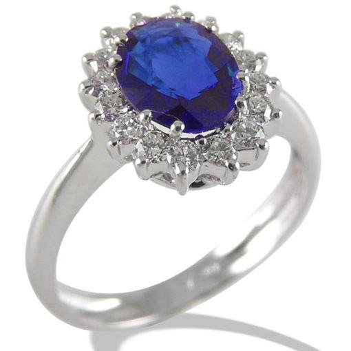 gioielli con zaffiro, zaffiro, anello oro bianco