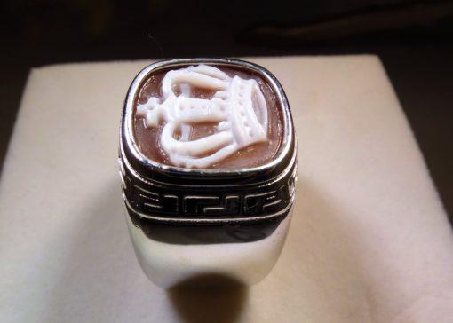 anello argento, anello uomo, anelli cameo, cameo italiano torino