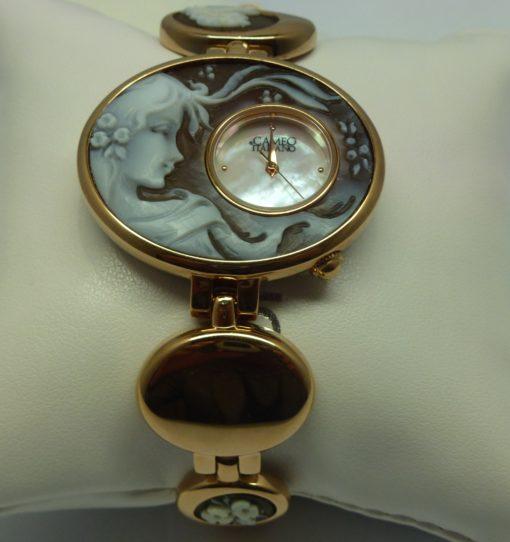 orologio donna cameo italiano, orologio in oro rosa, orologio donna, orologio cameo torino,orologio artigianato torino
