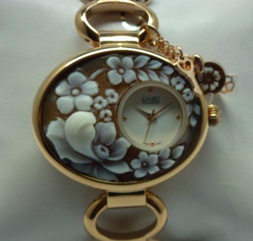 orologio donna cameo ,orologio donna con cameo fiori,orologio donna cameo torino, idea regalo donna originale, orologio con charme