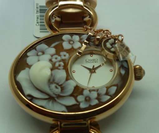 orologio donna cameo con fiore, orologio donna cameo con charme,orologio donna con cameo torino, idea regalo donna originale