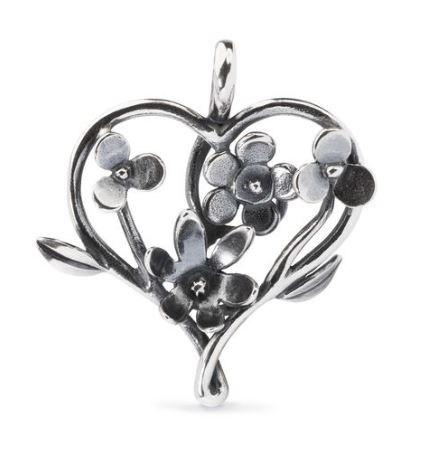 pendente campo di fiori, Trollbeads in argento,idea regalo trollbeads