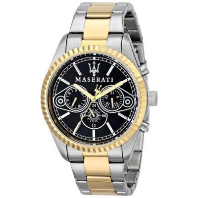 orologio da uomo maserati competizione,orologio maserati cinturino acciaio e color oro,orologi maserati susa torino,