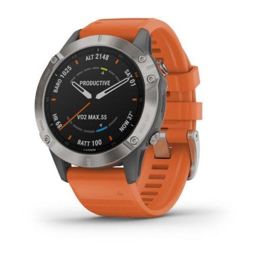 Garmin Fenix 6 Sapphire titanium orange prezzo in offerta sconto Garmin Fenix 6 Sapphire titanium orange 010-02158-14