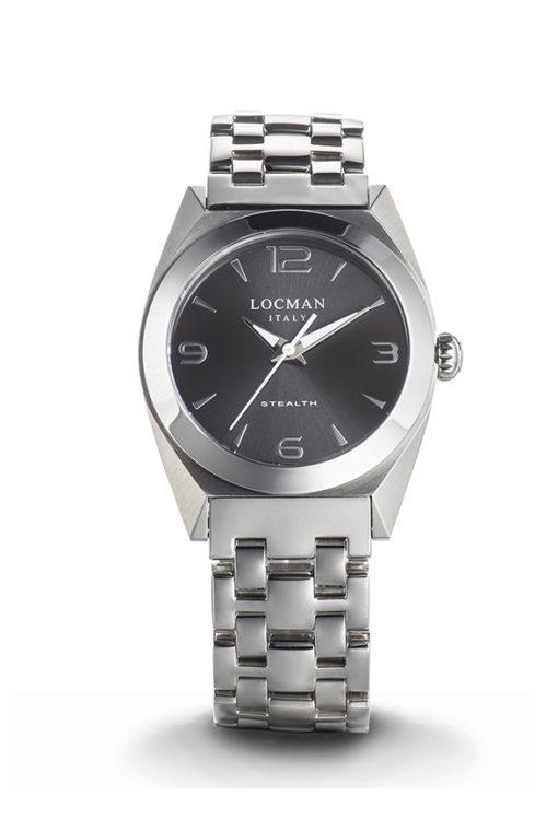 orologio donna locman nuovo stealth grigio acciaio e titanio, offerta orologio donna novità locman stealth grigio ,locman stealth lady grigio vetro antigraffio da cuatto offerta