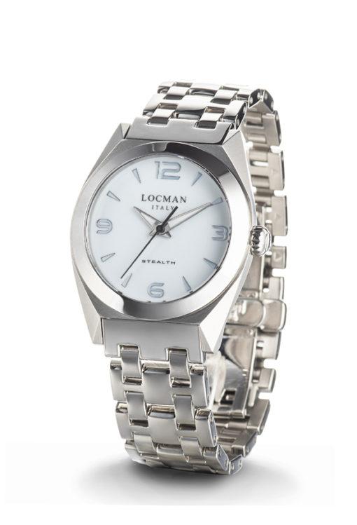 orologio solo tempo lady bianco stealth titanio e acciaio