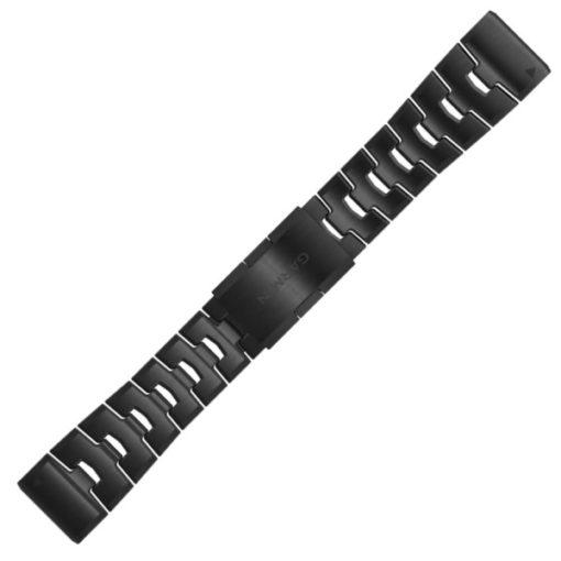 cinturino bracciale garmin quickfit 26 mm titanio nero