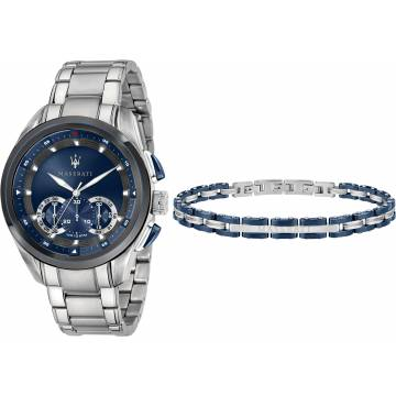 orologio+bracciale maserati traguardo,orologio e bracciale maserati collezione traguardo,doppio regalo orologio + bracciale maserati uomo