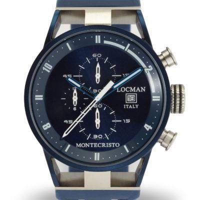 Locman Montecristo crono blu acciaio e titanio offerta provincia di torino, locman orologi montecristo offerta susa