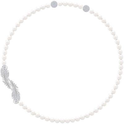 collana swarovski nice piuma e perla offerta provincia di torino,offerta collana swarovski susa
