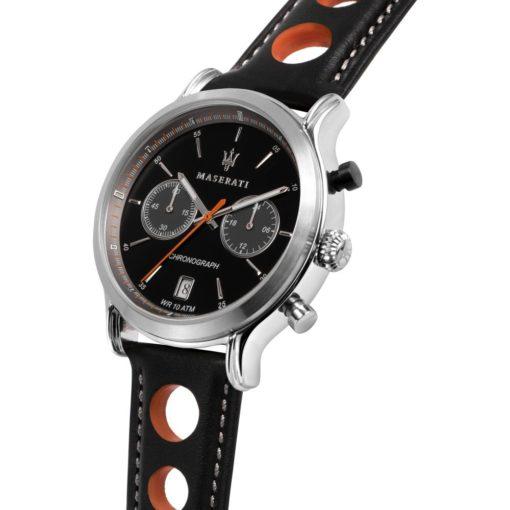 orologio uomo cronografo maserati legend pelle nero arancio offerta provincia di torino,orologio maserati uomo legend offerta da cuatto
