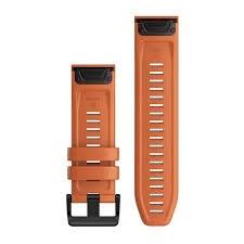 Cinturino Garmin 26mm ember orange silicone quickfit