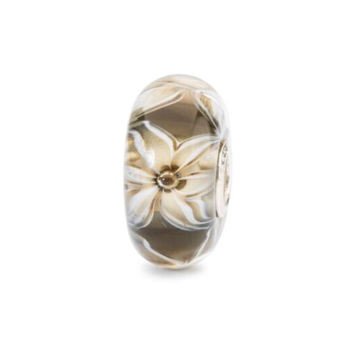 TGLBE-10441 Gioielli Trollbeads in vetro Fiore dell'Eleganza