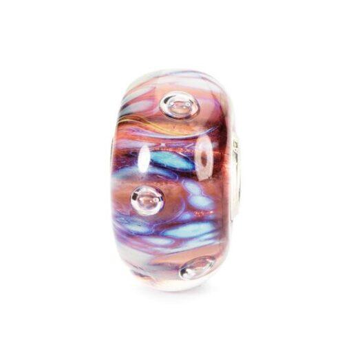 Trollbeads in vetro Beads Bolle di Mezzanotte TGLBE-10171 idea regalo donna