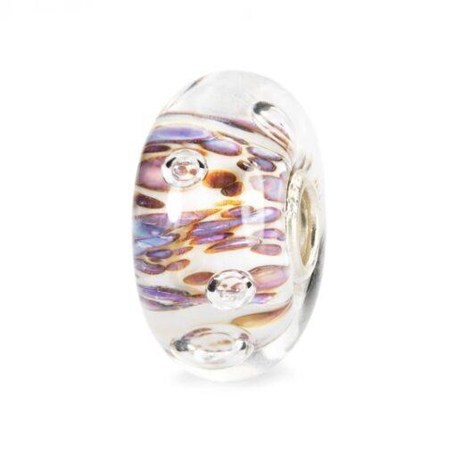 Trollbeads in vetro Beads Cresta di Bolle Viola TGLBE-10170 idea regalo donna