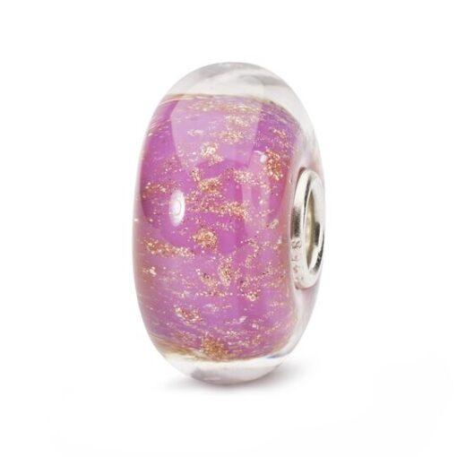 Trollbeads in vetro Beads Deserto Rosa TGLBE-10254 bracciale idea regalo donna