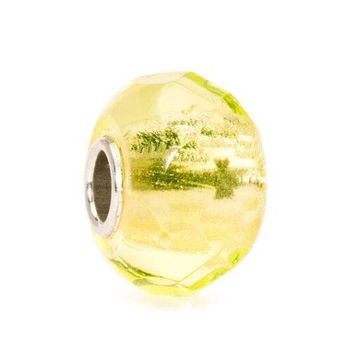 Offerta Trollbeads Beads in vetro idea regalo donna 2020 Tollbeads Prisma Giallo Chiaro TGLBE-00152ì4