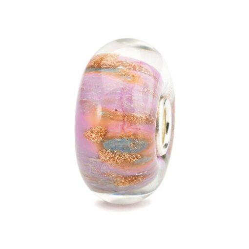Trollbeads in vetro Beads Rosa del Deserto TGLBE-10177 idea regalo donna