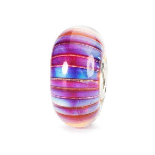 Trollbeads in vetro Beads Strisce Aurora TGLBE-10172 idea regalo donna