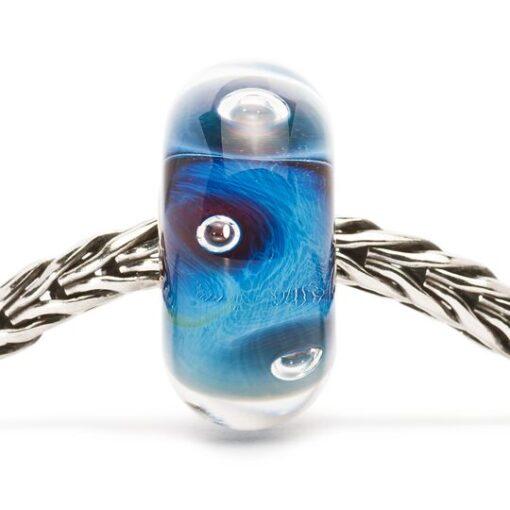 Beads Trollbeads in vetro idea regalo donna Occhio del Ciclone TGLBE-10143