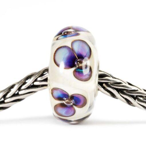 Beads Trollbeads in vetro idea regalo donna Violette Avorio TGLBE-10168