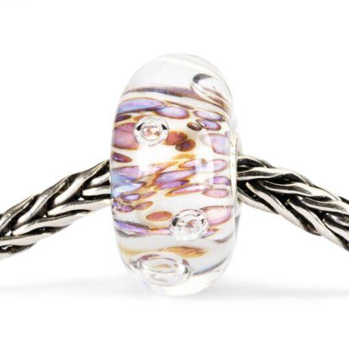 Beads Trollbeads in vetro idea regalo donna Cresta di Bolle Viola TGLBE-10170
