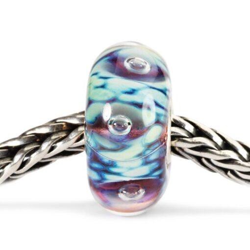 Beads Trollbeads in vetro idea regalo donna Bolle di Mezzanotte TGLBE-10171