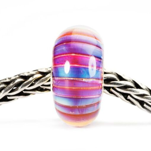 Beads Trollbeads in vetro idea regalo donna Strisce Aurora TGLBE-10172
