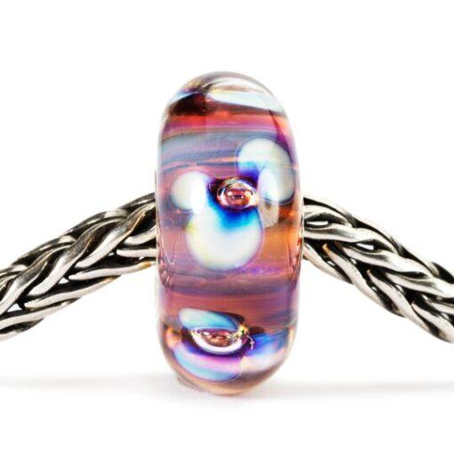 Beads Trollbeads in vetro idea regalo donna Fiori Aurora TGLBE-10173