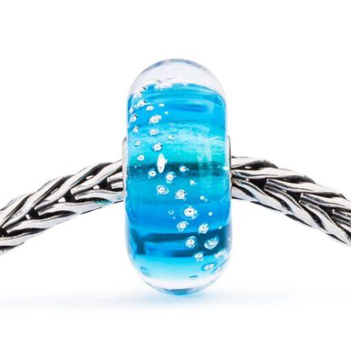 Beads Trollbeads in vetro idea regalo donna Tracce d'Argento Turchese TGLBE-10198