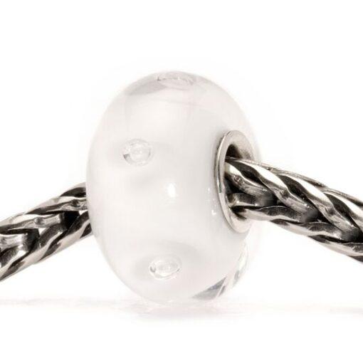 Beads Trollbeads in vetro idea regalo donna Bolle Bianche TGLBE-10231
